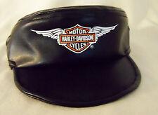 Harley Davidson Black Dog Canine Cap Hat Vinyl MD