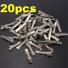 FD4067 DIY Flat Metal Single Prong Alligator Hair Clips Barrette for Bows 20PC ☆