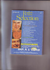 Reader's Digest Selection Octobre 1997 N° 1997 : Oui A L Euro