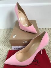 NIB Auth Christian Louboutin Decoltish Pink Suede Pointed Pumps 38.5 8.5 $675