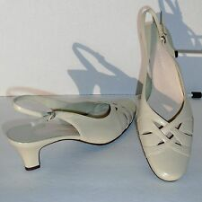 7½ N - NATURALIZER – GENUINE LEATHER SLING BACKS – BEIGE - SIZE 7½ N – NEW $55