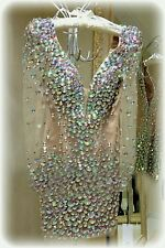 GORGEOUS♡NEW♡ELEGANT♡LIGHT PINK♡ CRYSTAL♡STONE♡SPARKLY MINI♡COCKTAIL♡HOLIDAY♡M