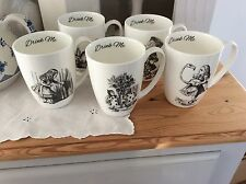 Alice in Wonderland  Bone China Set of 5 mugs