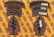 Special Forces Group Airborne SFGA SF Ranger TOP OD Green & Black patch m/e set