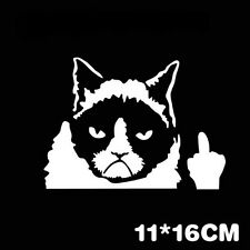 Pop Grumpy Cat Flippin' Off vinyl Car Laptop Graphics Window Sticker Decal Decor