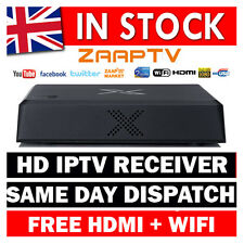 ZAAP TV X  HD  ARABIC IPTV SET TOP BOX ZAAPTV GREEK ARABIC + WIFI  (2 YEAR SUB)