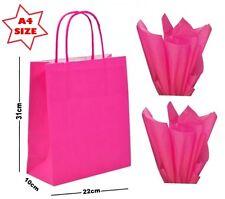 12 x Paper Party Gift Bags SIZE A4 ~ Boutique Shop Carrier Bag & Tissue Wrap