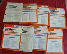 8 baremes de main-d'oeuvre Nissan/Volkswagen/Toyota/Volvo/Opel/Seat  1990-1992