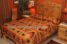 Western Indian Design Blanket Bedspread -Pueblo KING