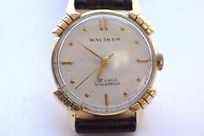 14K Yellow Gold WALTHAM Wristwatch with Fancy Lugs