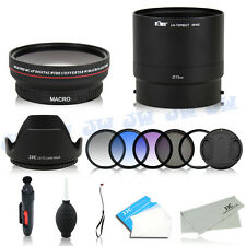 Wide Angle Macro Lens & UV CPL Graduated Color Filters For Nikon P600 P610 P610S