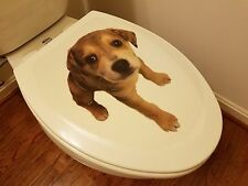 Brand New Toilet Seat Lid Cover Decal Sticker – Cute Dog - Free Shipping !!!