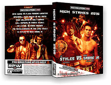 Official RPW High Stakes 2016 Event DVD (AJ Styles, Cabana, Lethal, Zack Sabre,)