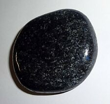 1pc Nuummite Worry Stone Natural Crystal Healing Gemstone Smooth Palm Stone
