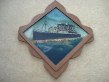 CWW1 VINTAGE CUNARD LINER MAURETANIA SISTER SHIP OF THE LUSITANIA SOUVENIR PIC