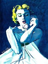 PAINTING MAGAZINE ILLUSTRATION LUDLOW WOMAN BED PHONE USA POSTER PRINT LV2655