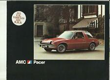 AMERICAN MOTORS   AMC PACER USA CAR SALE BROCHURE 1976