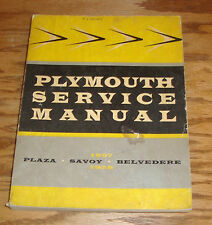 Original 1957 1958 Plymouth Service Shop Manual 57 58 Belvedere Plaza Savoy