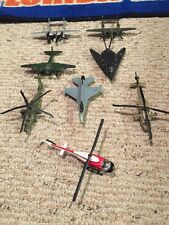 Lot Of 8 Maisto  Aircraft Die cast, Military, Jets, Helicopters, Prop Craft