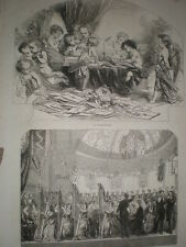 St Valentine's Day & concert for Newcastle Hospital 1853 old prints ref T