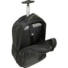 A.Saks Deluxe Expandable Wheeled Computer Backpack Black AE-19W