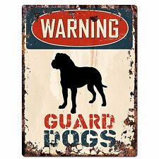 PP2345 WARNING GUARD DOGS Plate Sign Rustic Chic Sign Home Door Gate Decor