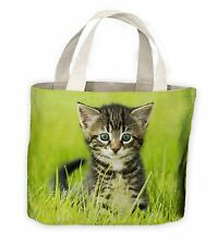 Kitten In Grass Tote Shopping Bag For Life - Cute Pet Kittens Cat