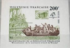FRENCH POLYNESIA POLYNESIEN 1989 Block 15 516 PHILEXFRANCE Bounty Ship Schiff **