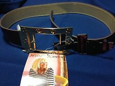 Betsey Johnson Reversible Belt Brown Gold Buckle Small/Medium NWT