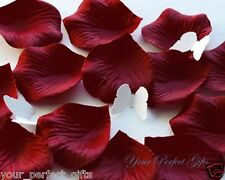 1000 BURGUNDY DARK RED SILK ROSE PETALS WEDDING FLOWER