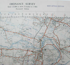 1947 OS Ordnance Survey 1:25000 First Series prov Map SU97 Windsor War Office
