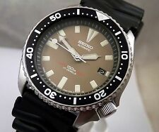 Seiko Military Khaki Dial Submariner Diver's Automatic Date Watch Custom 7002