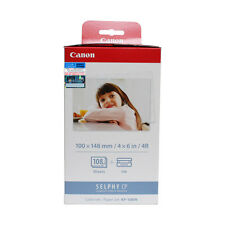 """Canon SELPHY KP-108IN Color Ink Cassette + 4R 4"""" x 6"""" Paper Set (108 Sheets)"""