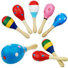 Kids Gift Sand Hammer Rattle Musical Instrument Percussion Wooden Ball Toy
