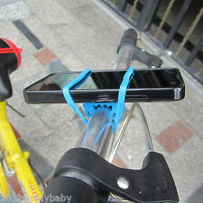 Random Band Flash Light Phone Strap Tie Mount Cycling Bicycle Silicone Holder