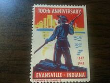 1947 100th Anniversary Evansville, IN. MNH Stamp