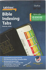 SEASIDE COLORS 90 BIBLE INDEXING TABS Old & New Testaments Tabbies