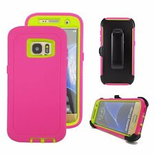 For Samsung Galaxy S7 Edge Defender Case Outer & Belt Clip(Holster Fits Otterbox