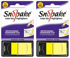 100 Snopake Repositionable Sticky Pagemarker Index Tabs Notes in Dispensers