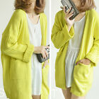 Womens Ladies Chunky Cable Knit Cardigan Button Long Sleeves Cardigan Winter
