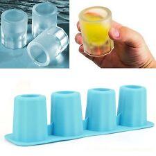 4PC/Set Blau Eiswürfelform Eispinchen eisglas eiswürfel silikon schnapsglas