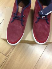 FRED PERRY  MAROON HIGH TOPS.SIZE 8 REDUCED TO £50.00 FREE DELIVERY