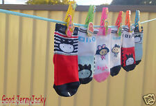 6 Pairs Unisex Cute Baby Kids Toddlers Walkers Straight Non-slip Socks with Pegs