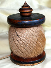 VINTAGE english STRING TWINE DISPENSER cotton reel bobbin wood treen