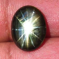 6.42ct.ALLURING GEM! 100%NATURAL 12 RAYS BLACK STAR THAILAND'S SAPPHIRE RARE NR