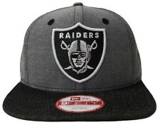 NFL New Era Oakland Raiders Denim Ox 9 Fifty Snapback Gorra Nuevo Tamaño S/M