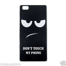 Custodia Back Cover IMD DON'T TOUCH Hard Rigida per Huawei P8 lite