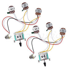 Guitar Wiring Harness Kit for Strat Parts 5 Way Toggle Switch 500K 2T1V 2 Pcs