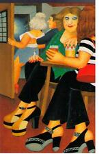 "Beryl cook ~ ""big chaussures"" ~ mounted print"
