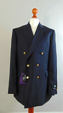 AUSTIN REED Mens Dark Navy Italian Tailored Double Breasted Suit Jacket 44L